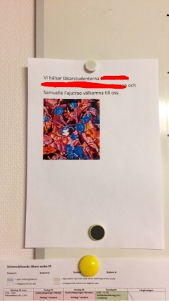 welcome note for us medical students at jönköping ryhov hospital!