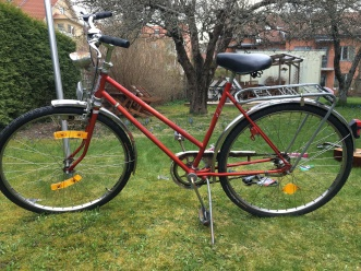 meet my new red bike Hera bought second hand